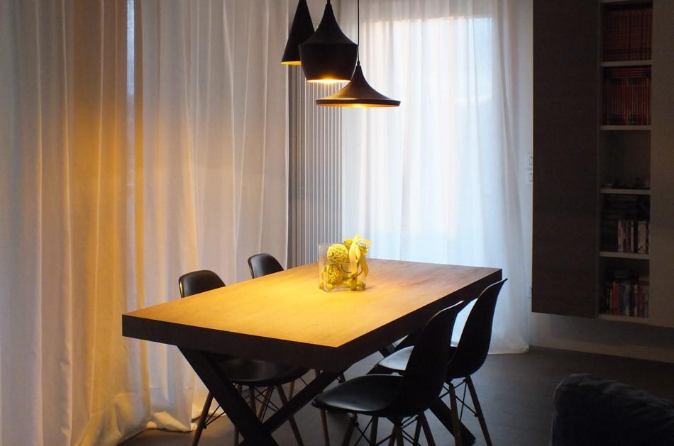 Installazione illuminazione lampade faretti appartamento in città