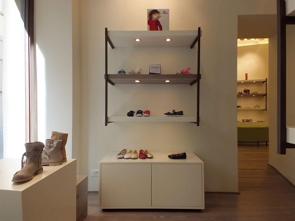 Installazione illuminazione lampade faretti negozio di scarpe