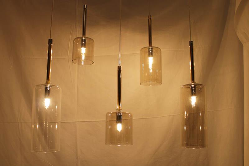 Lampada sospensione cristallo lampadario a sospensione di