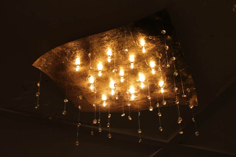 Lampada Crystalrain gold