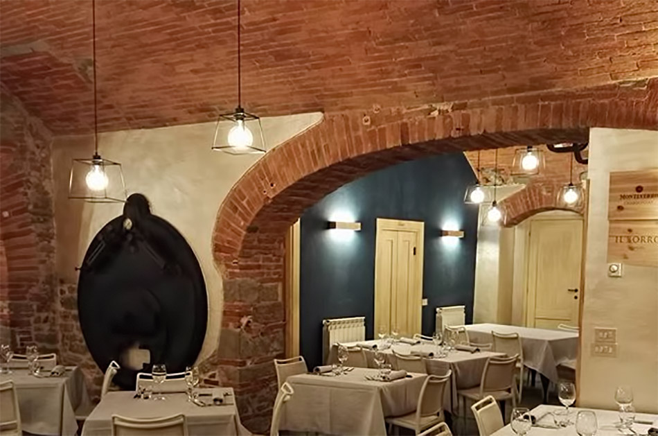 Polverini installazione illuminazione in un ristorante ad Arezzo