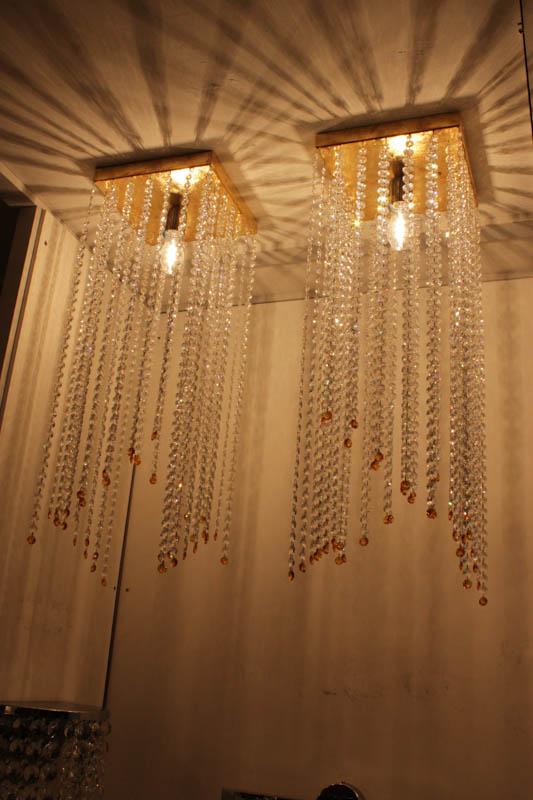 Lampada Quadra plafoniera con swarovski