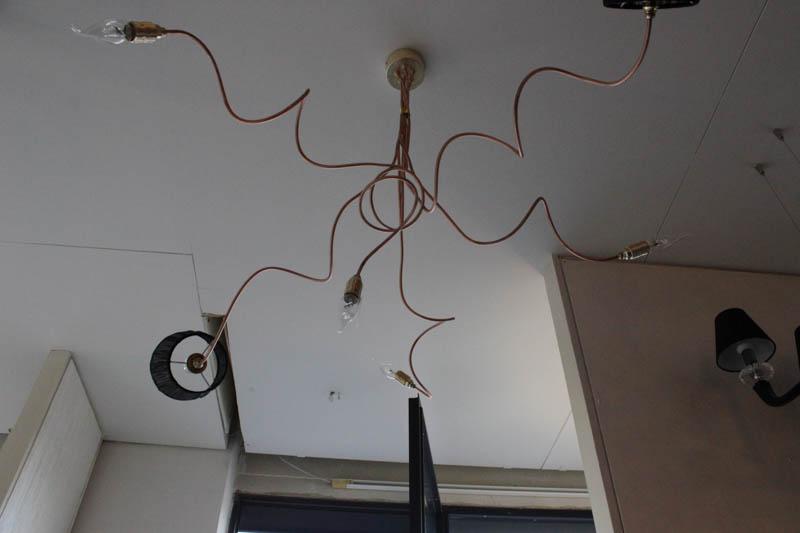 Lampada Ramix sospensione rame led