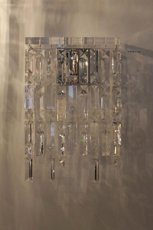 Lampada Rettangola swarovski parete