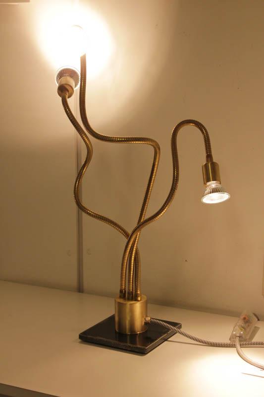 lampada flex 3luci led ottone