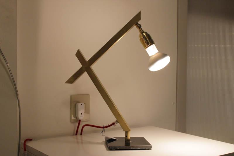 lampada oro spazzolato