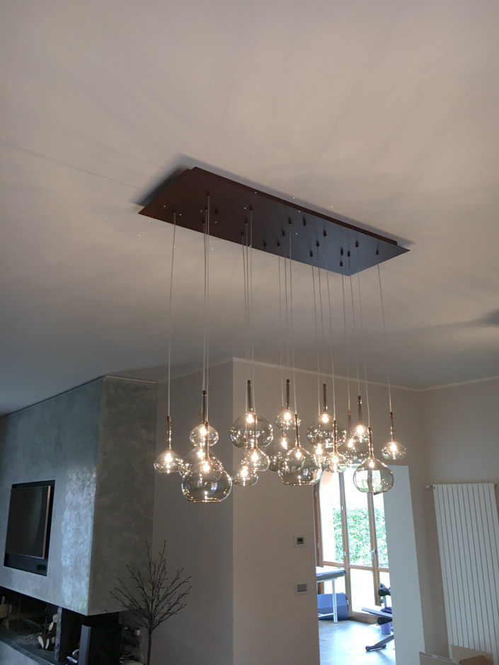 Polverini Lampadari installazione lampade artigianali